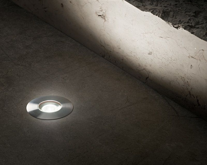 FARETTO LED RGB DA INCASSO 3W PER ESTERNO SEGNA PASSO CALPESTABILE IP68 GIARDINO