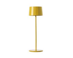 Twiggy Less Marino Cristal Lampada da Tavolo Led Ricaricabile Gialla