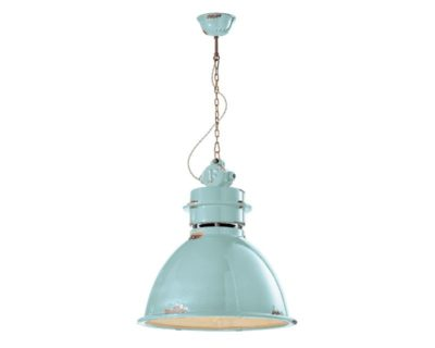 Lampadario C1750 Industrial Collection Ferroluce Azzurro