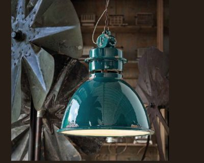Lampadario C1750 Industrial Collection Ferroluce verde