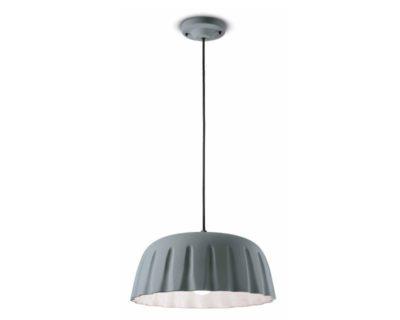 madame-gres-ferroluce-lampadario-moderno-grigio-tele-largo