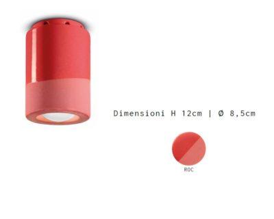 pi-plafoniera-cilindro-small-rosso-corallo-ferroluce