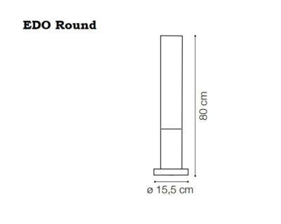 Edo Round Ideal Lux Palo da Esterno