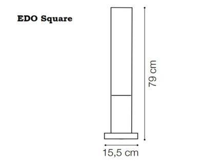 Edo Ideal Lux Palo da Esterno tecnica