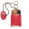Applique Stile Industriale C1621 Rossa Ferroluce