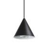 A-Line Ideal Lux Lampadario a Cono moderno nero diam 13 cm