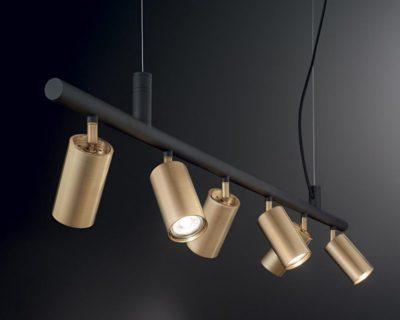 dynamite-ideal-lux-lampadario-nero-ottone-orientabile-accesso