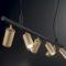 Dynamite Ideal Lux Lampadario Binario con Spot orientabili Oro