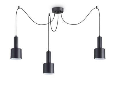 Holly tre Ideal Lux Lampadario Cilindrico 3 luci Binaco