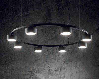 Minor Round Ideal Lux Lampadario Led Moderno Big