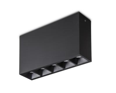 Lika Surface Ideal Lux Plafoniera Led Nera 5 luci