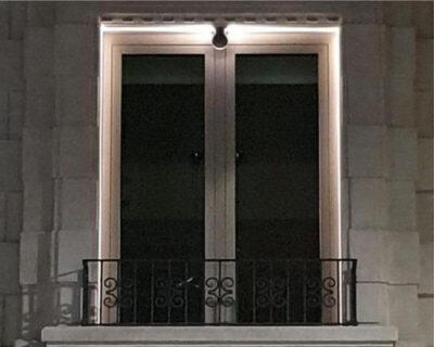 Nik Beneito Plafoniera Applique Led per Esterni dettaglio luce