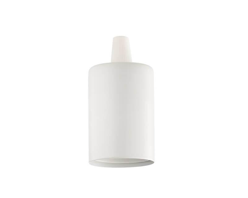 Portalampada E27 liscio Ideal Lux bianco
