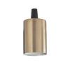 Portalampada E27 liscio Ideal Lux brunito