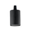 Portalampada E27 liscio Ideal Lux nero
