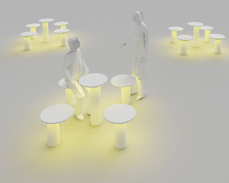 Moal Leds-C4 Palo da Esterno Led Effetto luminoso