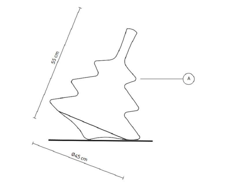 Pirla Karman Lampada da Tavolo e Terra di Design dimensioni
