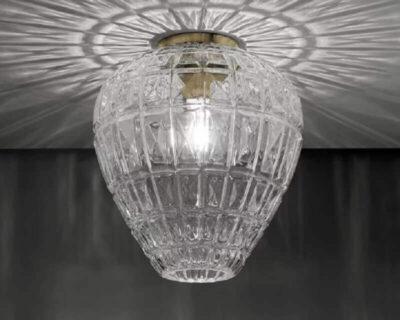 Reflex Sforzin Plafoniera Vintage in Vetro Trasparente Luminosa