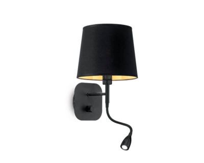 Nordik Ideal Lux Applique Moderna Nera Oro