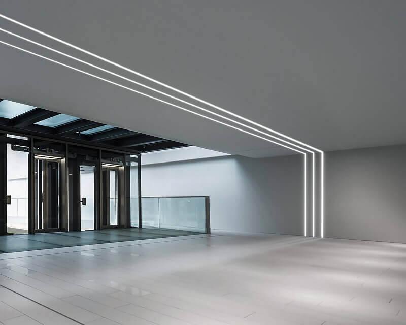 Slot Recessed Ideal Lux Profilo Alluminio a Incasso Ambientato