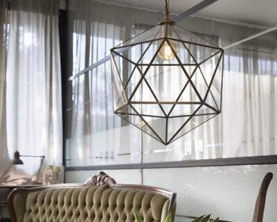 Deca Ideal Lux Lampadario Vintage Ambientato