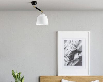 Neo Retro Miloox Sforzin Plafoniera Applique Vintage Small Ambientata