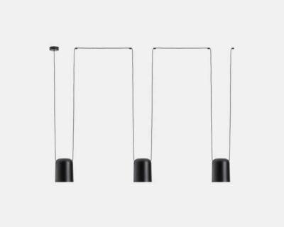 Attic-Leds-C4-Lampadario-Modulare-Di-Design-nero-3-luci