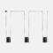 Attic Leds-C4 Lampadario Moderno 3 luci nero