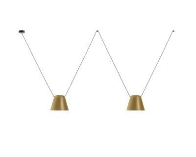 Attic-Leds-C4-Lampadario-Modulare-Di-Design-oro-2luci