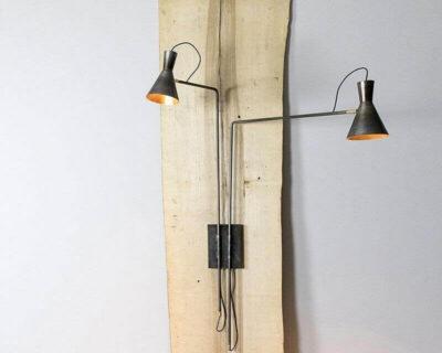 imbuto-doppio-lampada-parete-renzo-serafini_ lampada renzo serafini-struttura
