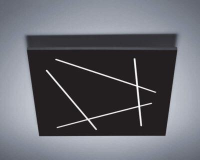 Flat-Vivida-International-plafoniera-led-quadrata-nera-di-design