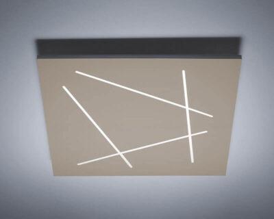 Flat-Vivida-International-plafoniera-led-sabbia-quadrata-di-design