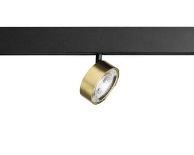 Kiva Leds-C4 Proiettore Led Orientabile Oro per Binario