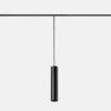 Vela Leds-C4 sospensione led per binario nera