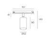 Atom Leds-C4 Proiettore Led Orientabile Per Binario Misure