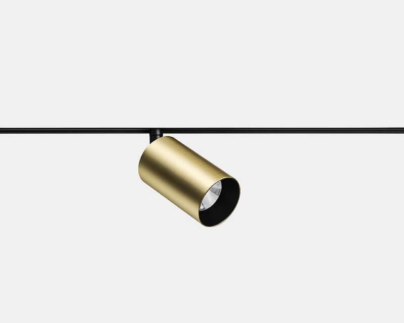 Atom Leds-C4 Proiettore Led Orientabile Oro Per Binario