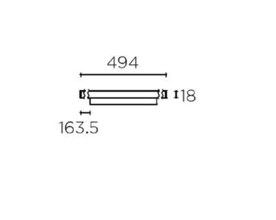 Infinite Leds-C4 Profilo Led per Binario Sezione