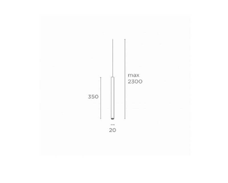 Mini Go Exenia Sospensione Led Cilindrica colorata dimensioni