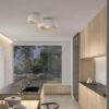 Miso Leds-C4 Plafoniera di Design Bianca Oro