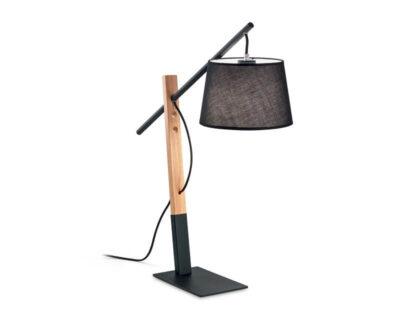 Eminent Ideal Lux Lampada da Tavolo Stile Nordico Nera