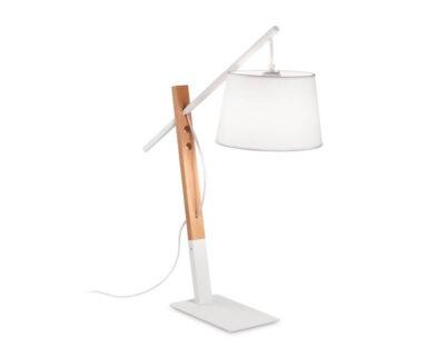 Eminent Ideal Lux Lampada da Tavolo Stile Nordico Bianca