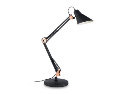 Sally Ideal Lux Lampada da Scrivania orientabile Nera