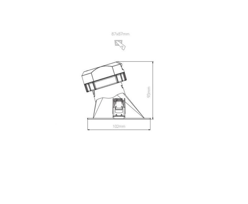 Pulcom Quadro Beneito & Faure Faretto Led Asimmetrico Dimensioni