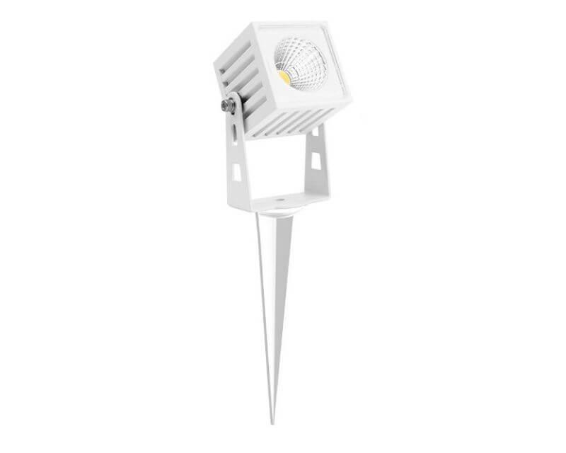 Zas Square Beneito Faure Mini Proiettore Led Per Esterno Bianco