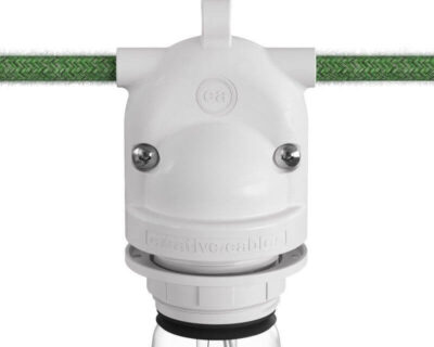 Eiva 2 Creative Cables Portalampada Per Esterno IP65 Bianco