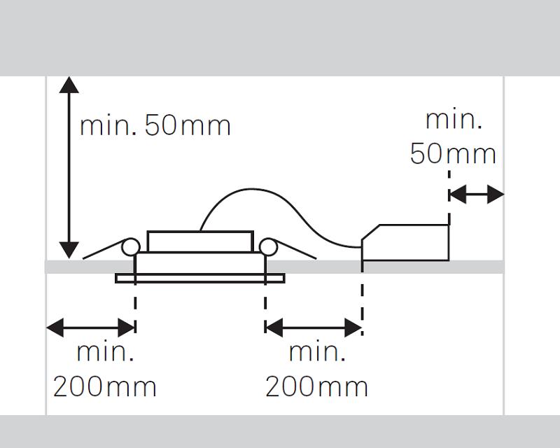 Jet Forlight Faretto Led da Incasso Tondo disegno sezione