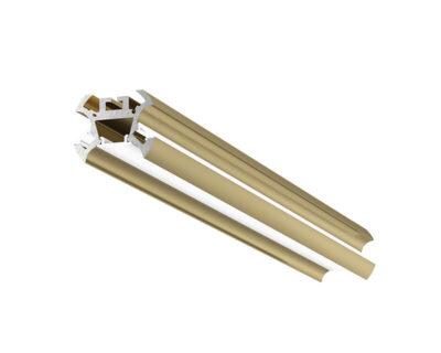 Astana Gea Luce Profilo In Alluminio Per Strip Led Oro