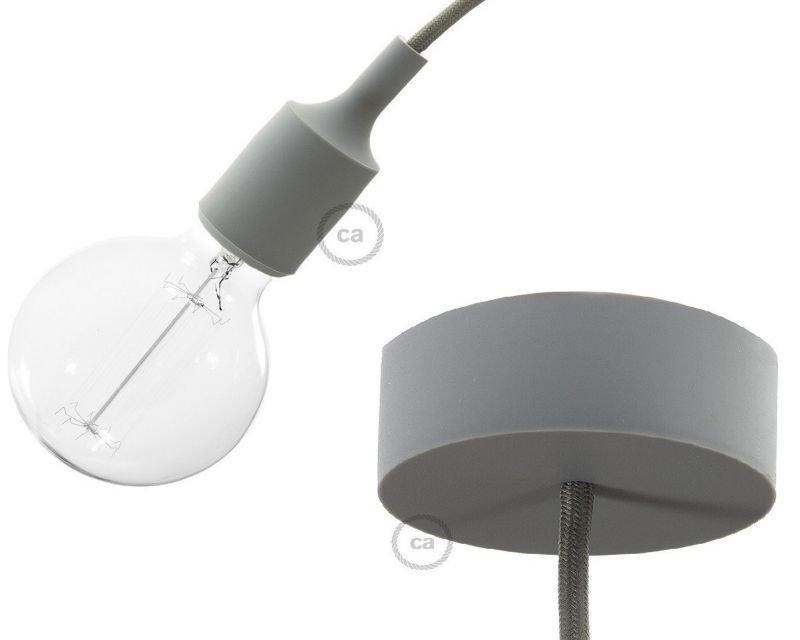 Sospensione grigia lampade a bulbo creative cables