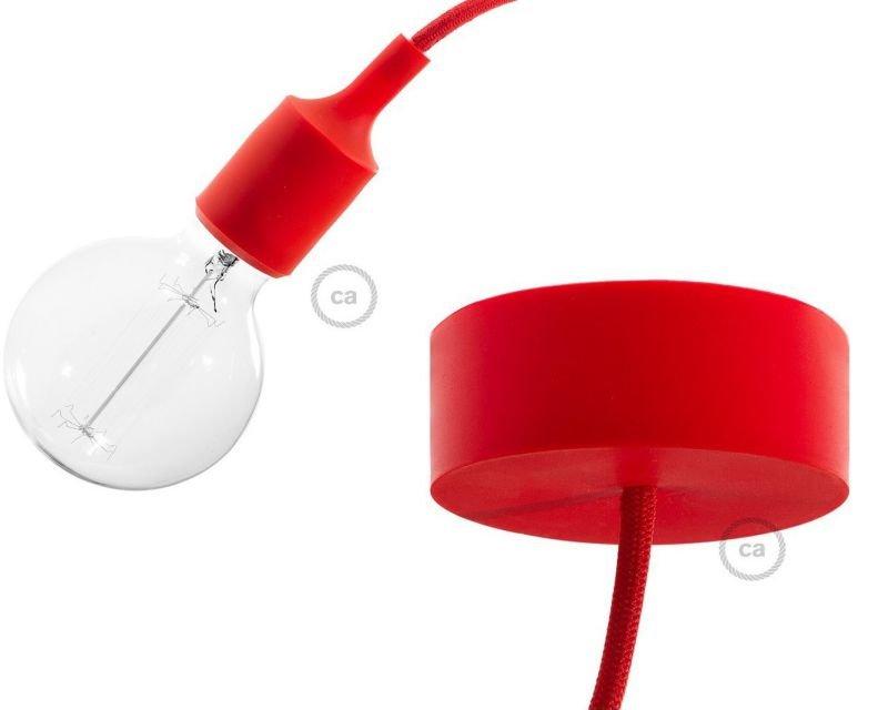 Sospensione rossa in silicone lampade moderne lightinspiration