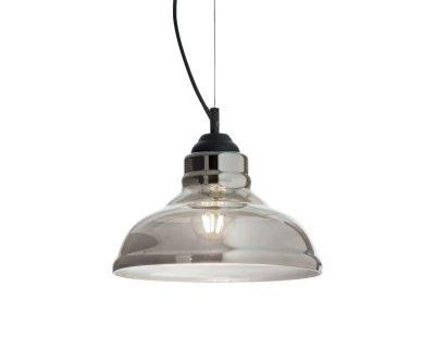 Bistro-Plate-Fume-Ideal-Lux-lampadario-in-vetro